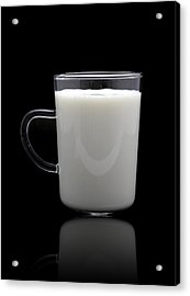 Glass Of Milk  Acrylic Print by Natthawut Punyosaeng