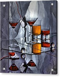 Glass Reflection Acrylic Print by Ron Schwager