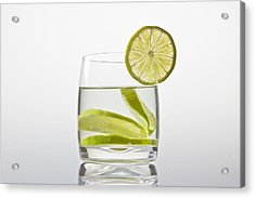 Glass With Lemonade Acrylic Print