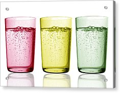 Glasses Of Water Acrylic Print by Gombert, Sigrid