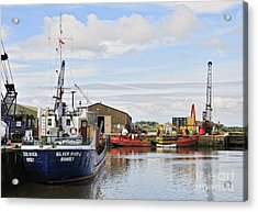 Glasson Dock Acrylic Print by Jason Connolly