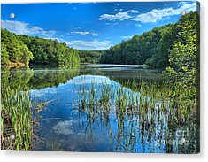 Glassy Waters Acrylic Print by Adam Jewell