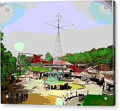 Acrylic Print featuring the mixed media Glen Echo Park by Charles Shoup
