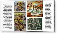 Glenn Litho-diary 1981-85 Acrylic Print by Glenn Bautista