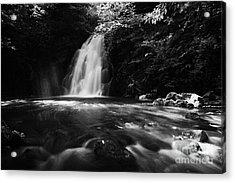 Gleno Or Glenoe Waterfall County Antrim Acrylic Print by Joe Fox