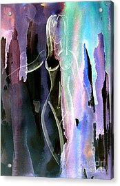 Acrylic Print featuring the painting Gliding by Julie Lueders