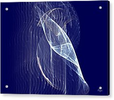 Acrylic Print featuring the digital art Glimmer Fish by John Pangia
