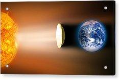 Global Warming Sun Shield, Artwork Acrylic Print by Victor De Schwanberg