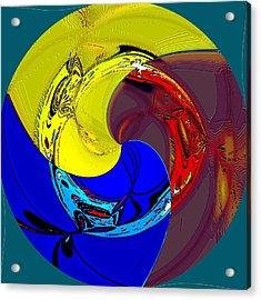 Globalization Acrylic Print by Rod Saavedra-Ferrere