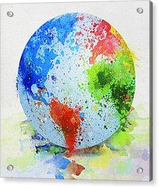 Globe Painting Acrylic Print by Setsiri Silapasuwanchai