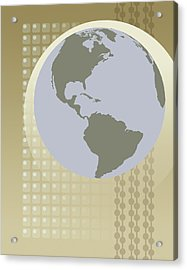 Globe Showing North And South America Acrylic Print by Don Bishop
