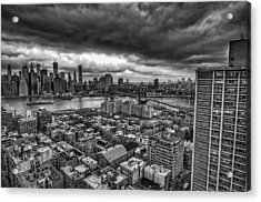 Gloomy New York City Day Acrylic Print