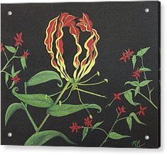 Gloriosa Acrylic Print by Melanie Blankenship