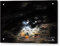 Glorious Gibbous - Wide Version Acrylic Print by Al Powell Photography USA