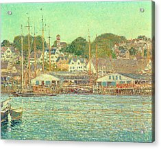 Gloucester Harbor Acrylic Print by Childe Hassam
