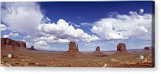 Glove Buttes And Clouds Acrylic Print by Axiom Photographic