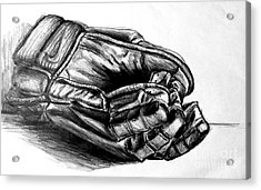 Gloves Acrylic Print by Mike N
