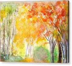 Glow Acrylic Print by Edie Schmoll