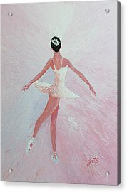 Glowing Ballerina Original Palette Knife  Acrylic Print
