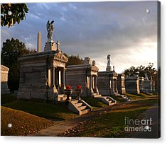 Acrylic Print featuring the photograph Glowing Cemetery by Jeanne  Woods