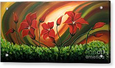 Glowing Flowers 4 Acrylic Print by Uma Devi