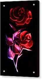 Glowing Glass Rose Acrylic Print