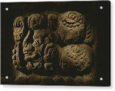 Glyph Representing The Mayan Rulers Acrylic Print by Kenneth Garrett
