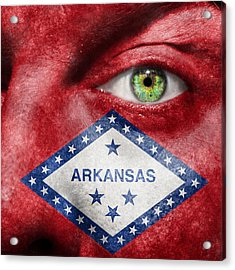Go Arkansas  Acrylic Print by Semmick Photo