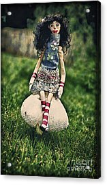 Go Ask Alice Acrylic Print by Cris Hayes