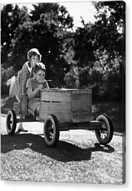 Go-carting Acrylic Print by Archive Photos