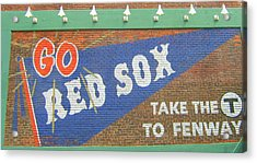Go Sox Acrylic Print by Bruce Carpenter