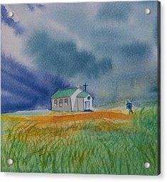 Go To Church Acrylic Print by Charlotte Hickcox
