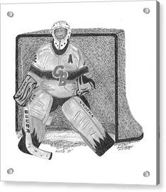 Goalie Acrylic Print by Bob and Carol Garrison