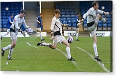 Goalkeeper Kicking Sequence Acrylic Print