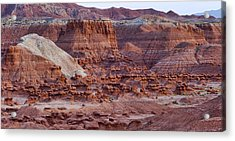 Goblin Valley Triptych Right Acrylic Print by Gregory Scott