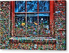 Gobs Of Gum Acrylic Print by Spencer McDonald