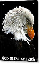 God Bless America Acrylic Print by Carrie OBrien Sibley