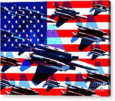 God Bless America Land Of The Free Acrylic Print by Wingsdomain Art and Photography