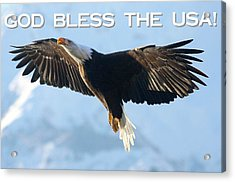 God Bless The Usa 2 Acrylic Print by Carrie OBrien Sibley