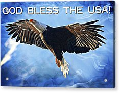 God Bless The Usa Acrylic Print by Carrie OBrien Sibley
