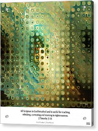 God-breathed. Christian Poster Acrylic Print by Mark Lawrence