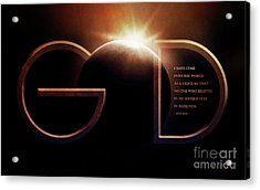 God Is Light Acrylic Print