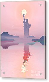 God Morning Acrylic Print by Harald Dastis