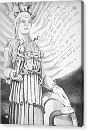 Goddess Athena Acrylic Print by Kyra Belan