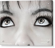 Acrylic Print featuring the photograph Goddess Eyes by Ester  Rogers