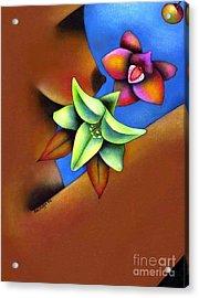 Goddess In Bloom Acrylic Print by Mucha Kachidza