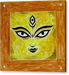 Acrylic Print featuring the painting Goddess Kali by Sonali Gangane