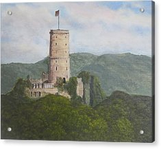 Godesburg Castle Acrylic Print by Heather Matthews