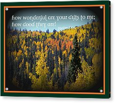 God's Gifts Acrylic Print by Michelle Frizzell-Thompson