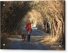 Going For A Walk  The Photograph Acrylic Print by John  Kolenberg